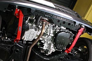AutoExe(オートエグゼ) ロアアームバーフレア MJ34 フロント 2WD CVT車用