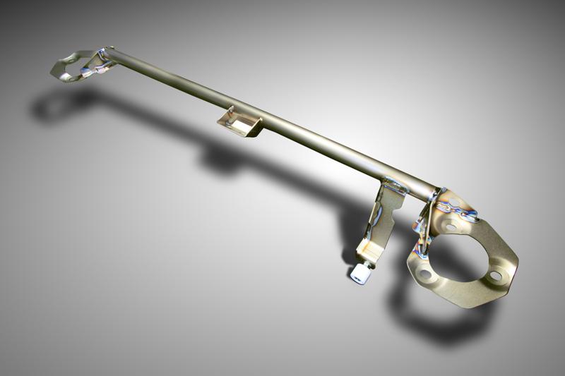 OKUYAMA (Honda) CARBING strut bar titanium / front / private types (MCS) Lancer Evo X CZ4A
