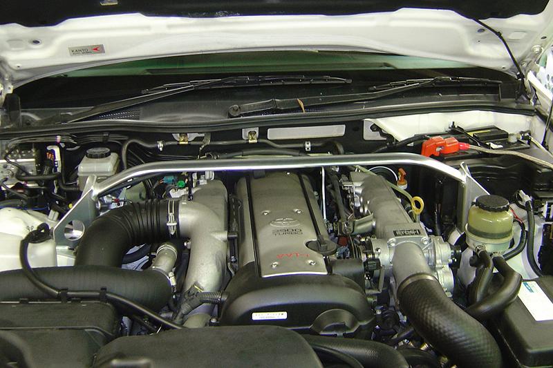 OKUYAMA (オクヤマ)CARBINGストラットタワーバーアルミ /フロント/タイプI マークII JZX110(NA)クラウンエステートワゴン アスリートG JZS175W(TB/NA)