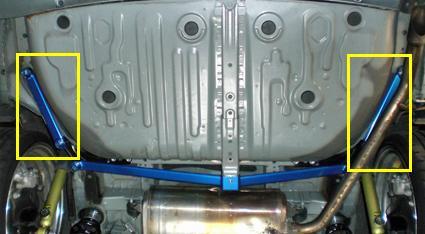 CUSCO(クスコ) パワーブレース フロアーリアサイド エスティマ ACR50W/GSR55W