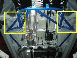 CUSCO(クスコ) パワーブレース フロアフロントサイドステップワゴン RG1・2・3(左右端・くの字型のバー、セット)