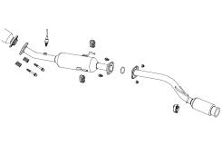 フジツボ オーソライズKマフラーアトレーワゴンカスタム ターボ 2WD ABA-S321G H19.09~