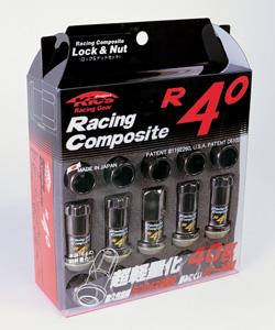 ■盗難防止超軽量ホイールロックナットセット【レーシングコンポジットR40】■M12×P1.5/M12×P1.25/クラシカル■Raing Composite R40【RC-11K/RC-13K】