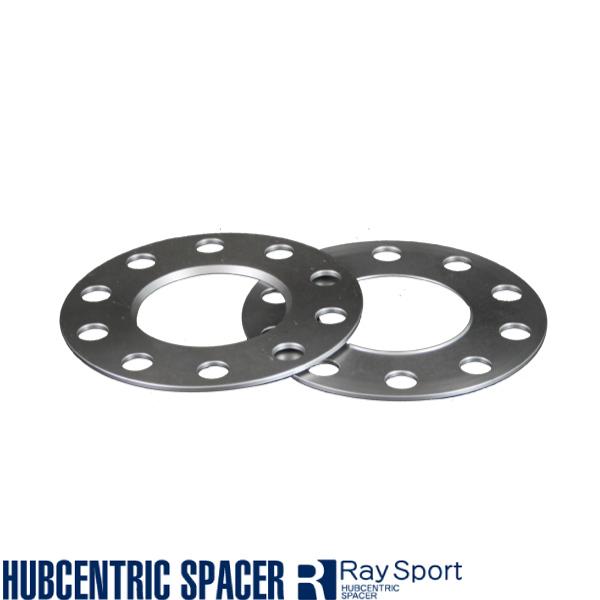 RAYS輸入車用スペーサー アウディ SQ5(FY型)/5H112/2枚SET/厚み10mm/P.C.D.112/内径66.6mm/ハブ無/ボルト無/RAYSスペーサー