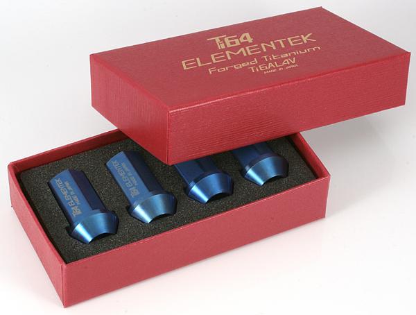 Forging nut Ti64 ELEMEMTEK Titanium Nut made of 16 set ■ Festiva / Japan Ford ■ M12 X P1.5/ blue ■ titanium alloy ※There is no lock