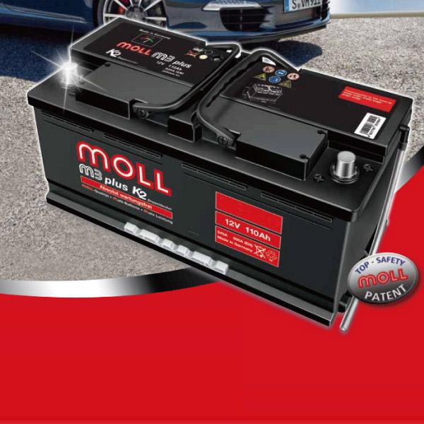 MOLL モル バッテリー【M3plus K2】■ポルシェ/PORSCHE 911/GF-99603【M83085】最高レベルのプレミアムスターターバッテリーMOLL battery/2年保証