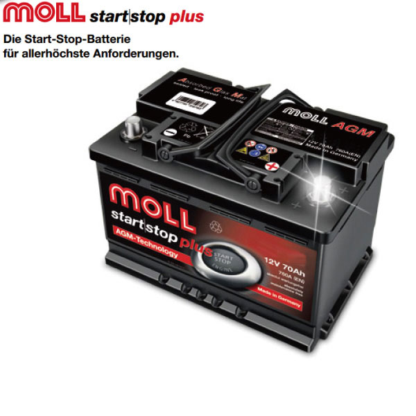 Moll Agm Mollbattery Volkswagen Pat 4motion V6 Gh 3caxzf Most Ful Start Performance With High Output