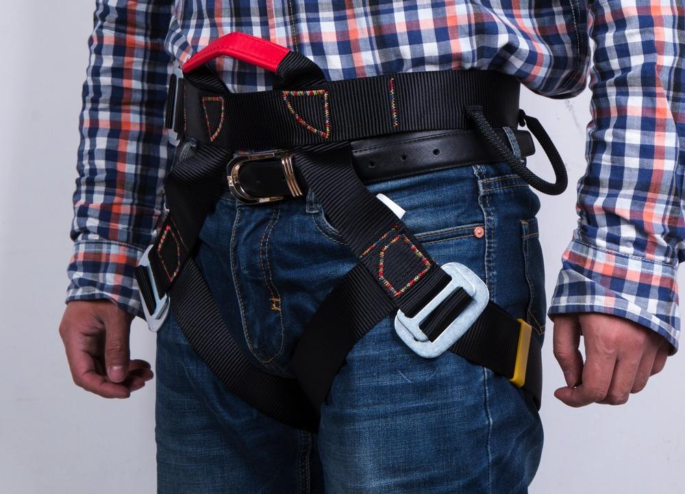 送料無料 激安販売 公式サイト 安全帯ベルト ハーネス クライミング 登山降下 お買い得 安全帯 アウトドア ロッククライミング 懸垂下降 ブラック 黒