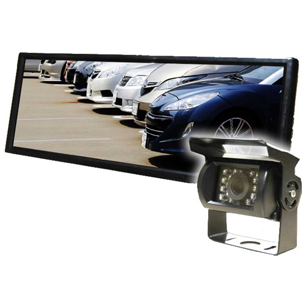 7インチ 液晶モニター & バックカメラ セット 12V/24V兼用 ワゴン 大型車 トラックに 【カー用品】