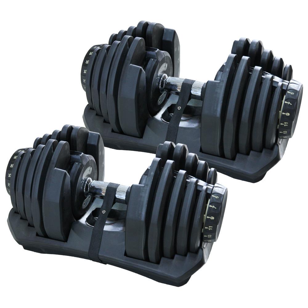 【送料無料】 80kg ダンベル 【40kgダンベル 2点セット 5から40kgまで調整可能なダンベル2点セット 両腕 ワンタッチで重量変更可能 】 【ダイエット・トレーニング】