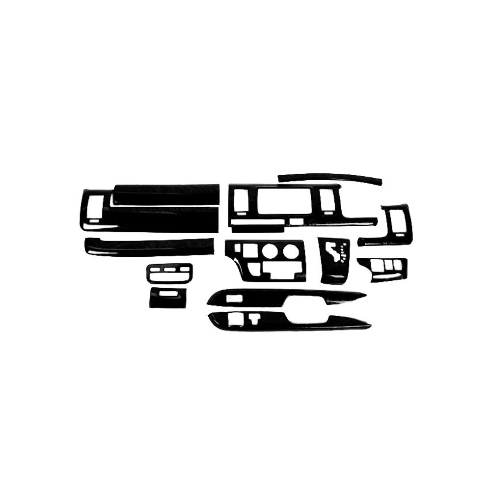 200系 ハイエース 1 2型 標準 黒木目 インテリアパネル 14P 【カー用品】