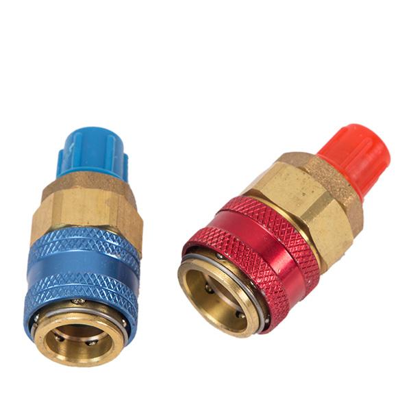 送料無料 激安販売 特価 エアコン ガスチャージ 低圧 与え R134a クイックカプラ 高圧カプラセット