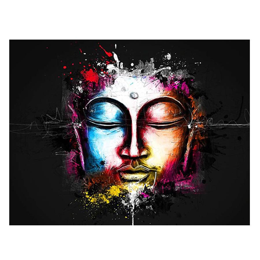 絵画 インテリアアート キャンバス パネルアート Buddha Water Color Face 個性派 60cm×80cm シングルアート