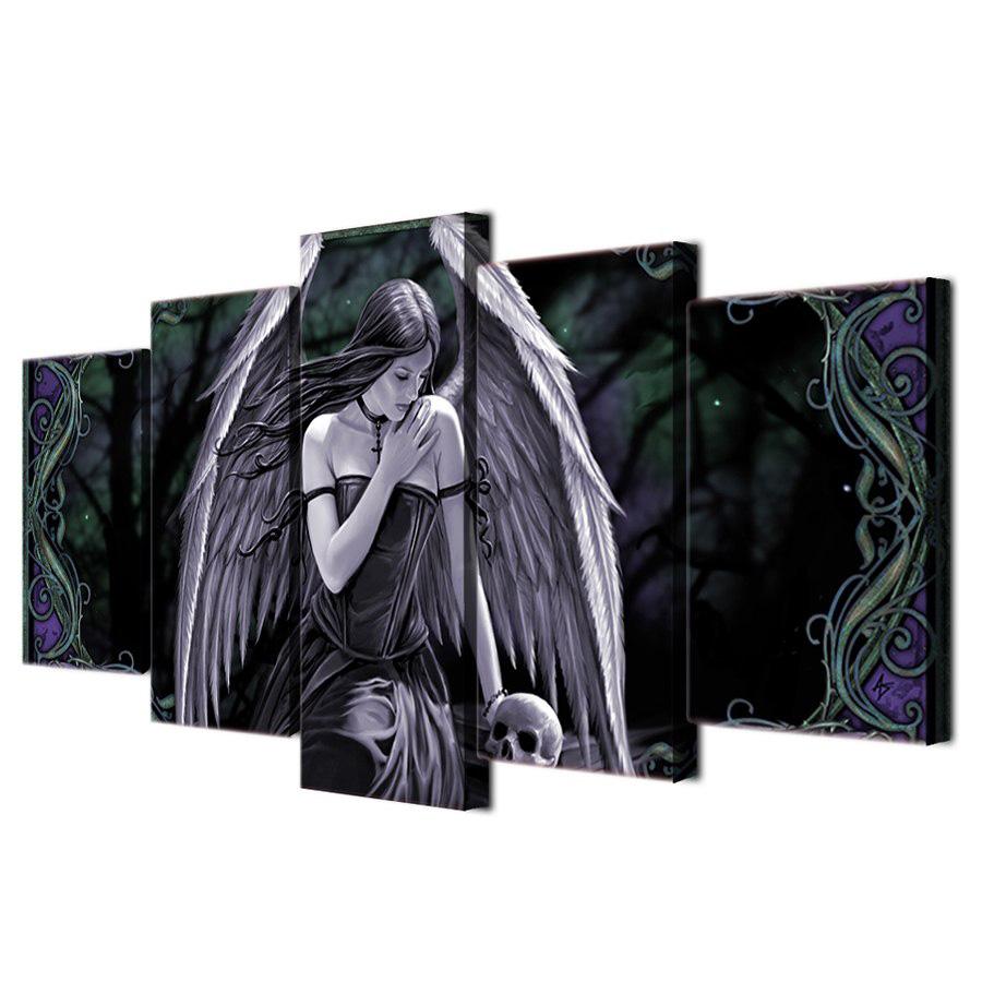 絵画 キャンバス パネルアート インテリアアート Angel wiht Wings 5枚セット