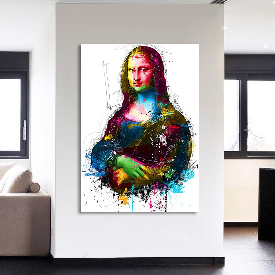キャンバス パネルアート インテリアアート Colorful Mona Lisa 個性派 60cm×80cm シングルアート