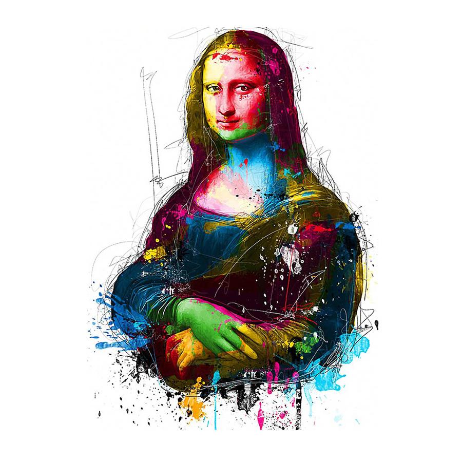 絵画 キャンバス パネルアート インテリアアート Colorful Mona Lisa 個性派 60cm×80cm シングルアート