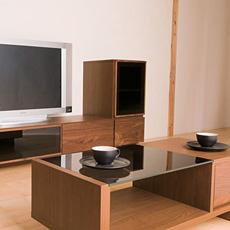Crespo(クレスポ)40 キャビネット L R ウォールナット 無垢材 日本製 (カーサヒルズ モダン 木製 寝室 リビングボード TV台 TVボード AVボード)