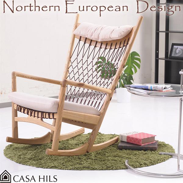 デザイナーズチェア 北欧チェア ロッキングチェア リプロダクト製品 ジェネリック Yチェア PP124 北欧家具 (北欧スタイル チェアー カフェ ワイチェア リビングチェア パーソナルチェア デザイナーズ家具)