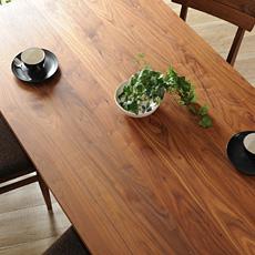 無垢材160ダイニングテーブル Leaves(リーヴス)日本製 (ウォールナット 木製 天然木 無垢 カフェ風 カーサヒルズ 食卓 食卓テーブル 家具)