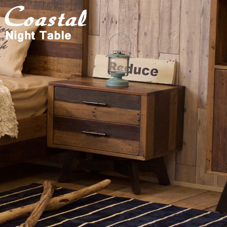 ナイトテーブルリビングテーブル サイドテーブル 寝室 サーフ系 西海岸風インテリア カリフォルニアスタイル