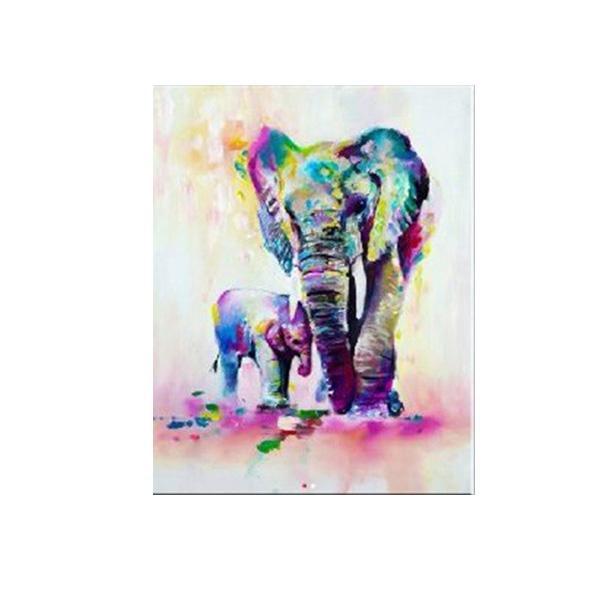絵画 インテリアアート キャンバス パネルアート Elephant 個性派 60cm×80cm シングルアート