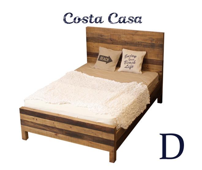 Costa Casa ベッド ダブルサイズ D フレームのみ オプションにてマットレス付可 BED size D Natural Wood 表示価格はフレームのみの価格です