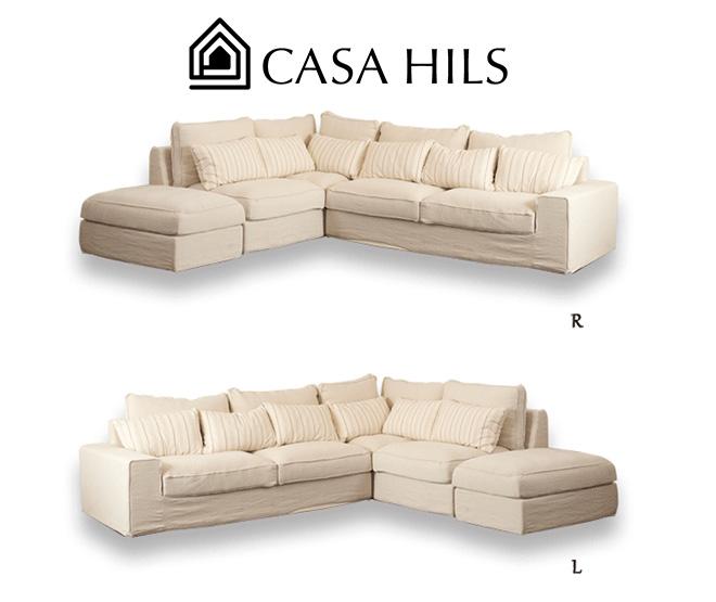 コーナー カウチ オーガニックソファ SH10-17L/R (CASA HILS / LOHAS Style / Organic / 自然素材 / sofa / ソファー / デザイン家具)