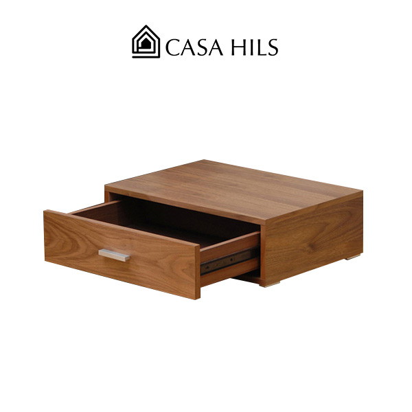 ベッド サイドテーブル ナイトテーブル ZEN (ウォールナット 木製 引き出し 北欧スタイル ロー 和室 zen テーブル カーサヒルズ ベットサイドテーブル ベッドサイドテーブル 寝室 ロータイプ)