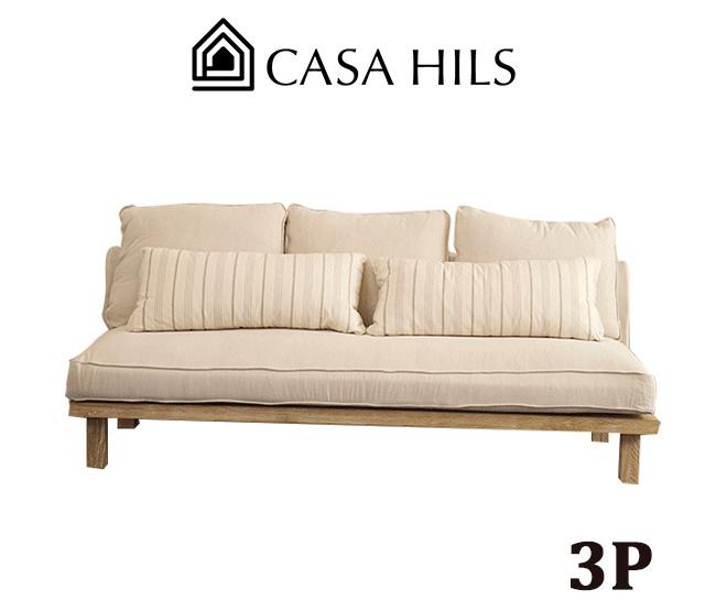 3人掛け オーガニック ソファ SH15-14 W1900 (CASA HILS / LOHAS Style / Organic / 自然素材 / sofa / ソファー / デザイン家具)