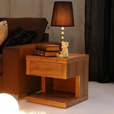 ウォールナット ベッドサイドテーブル リビングサイドテーブルZEN高級ホテルスタイル (木製 ナイトテーブル 寝室 北欧スタイル casahils カーサヒルズ リビングテーブル ベッドサイド リビング 引き出し)