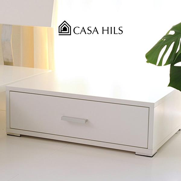 サイドテーブル ナイトテーブル ホワイト 白 家具 (引き出し 木製 北欧スタイル ベットサイドテーブル 木製ベッド ローベット フロアベッド ロー タイプ ベッドサイド)