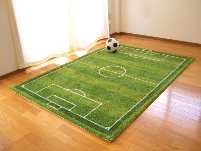 Stadium Football Pitch ボーダーラグ Mat L Size Sfm 01