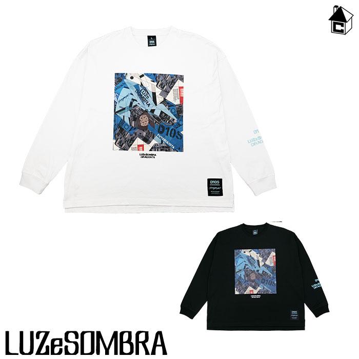"LUZ e SOMBRA LUZeSOMBRA 保障 ルースイソンブラ DR76 ""Dios"" 有名な big silhouette Tシャツ long フットサル tee〈サッカー ロンT〉O1212200 長袖"