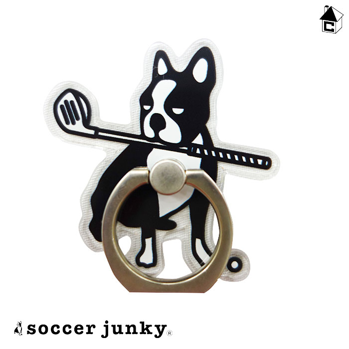 Soccer Junky サッカージャンキー スマホリング〈サッカー 商店 フットサル 在庫あり パンディアーニくん スマホ Golf ゴルフ〉GJ20260