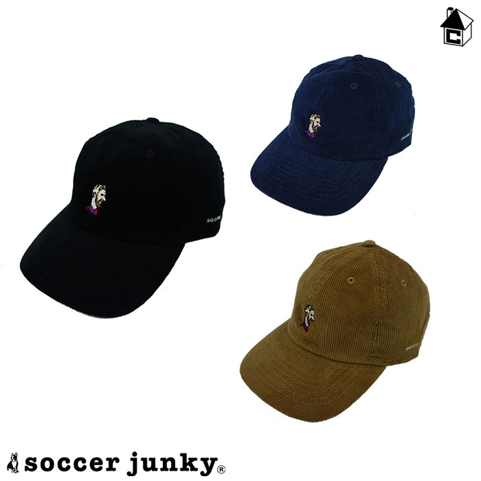 Soccer 本物 Junky サッカージャンキー コーデュロイキャップ〈サッカー 評判 メッシ〉SJ20577 フットサル 帽子