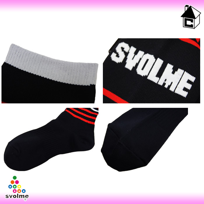 -Fall 2013/winter novelty subject products: svolme ジャガードボーダー socks (futsal, soccer, socks) 121-53980