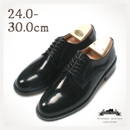 プレーントゥ 紳士靴 Firenze Atelier 本革 ハンドメイド 送料無料 靴 革靴 メンズシューズ ビジネスシューズ(おしゃれ 革 くつ 靴 シューズ 男性靴 皮靴 本皮 紳士 男性用 ビジネス レザー 就職祝い 入学祝い)