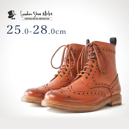 09b9a1ee5e9 Country boots (Tan) London Shoe Make (London shoemake) Goodyear mens  leather leather short boots