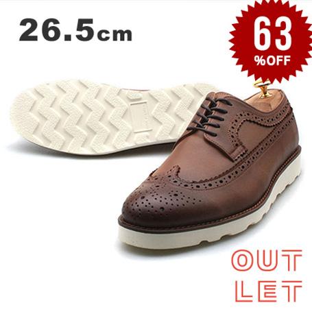 【 アウトレット】ウィングチップ 本革 メンズシューズ 紳士靴 ビジネス カジュアル 革靴 メダリオン 在庫限り【 ギフト プレゼント 】