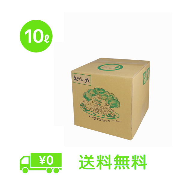 植物油由来成分からできた濃縮自然派洗剤「えがおの力(旧松の力)」10L【お徳用】