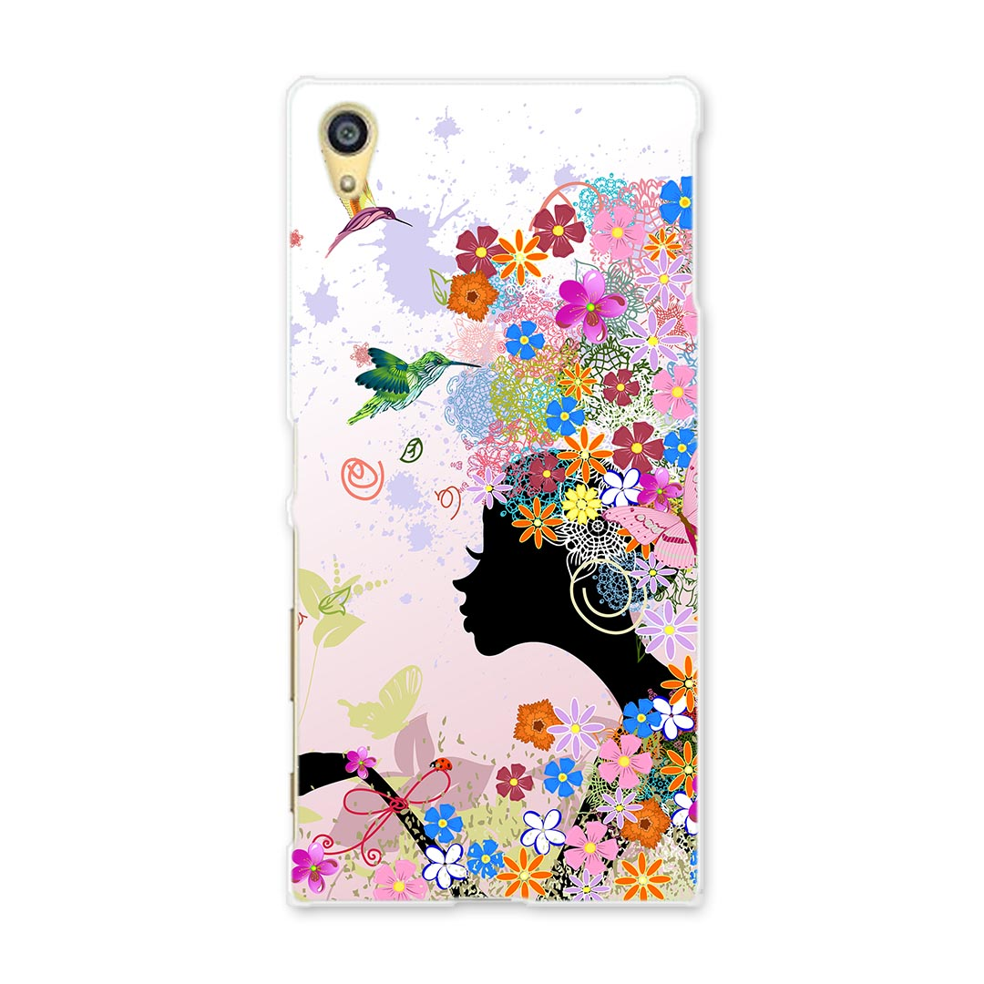 Case smartphone case smartphone cover TPU software softbank au docomo  flower flower person flower love Lee 005699 whom there is all soft case ★
