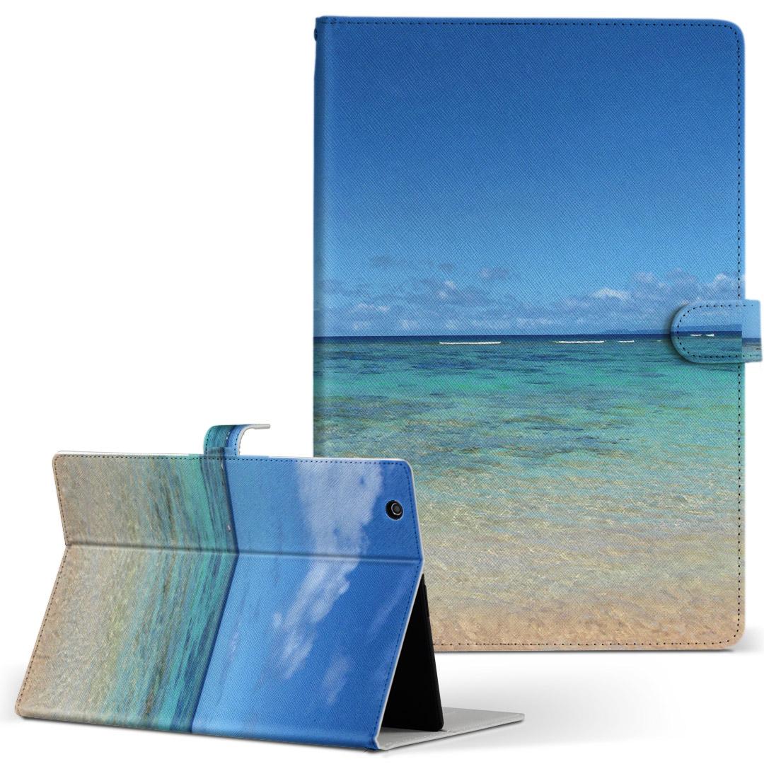 d-01J 手帳型ケース レザー かわいい ダイアリー 人気 タブレット メーカー公式ショップ ケース カバー Huawei dtab Compact ディータブコンパクト 青空 フリップ 001605 d01jdtabct 砂浜 Mサイズ 二つ折り 写真 有名な 手帳型 風景 革 海 タブレットケース