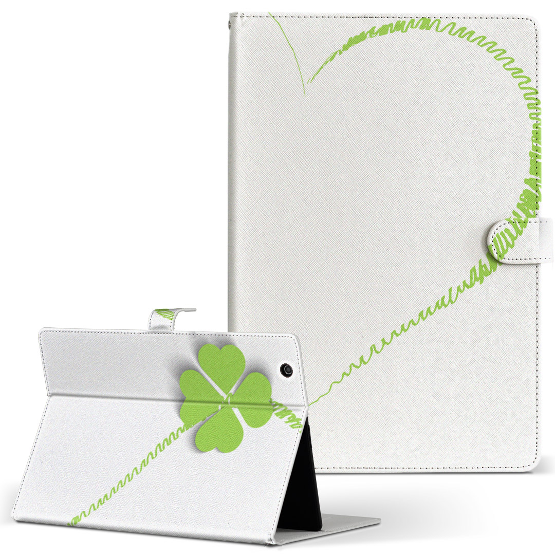 iPad 新作続 mini 4 手帳型ケース レザー かわいい ダイアリー 人気 タブレット ケース カバー Apple 手帳型 005483 Mサイズ 二つ折り ハート お洒落 タブレットケース フラワー フリップ 革 ipadmini4 クローバー
