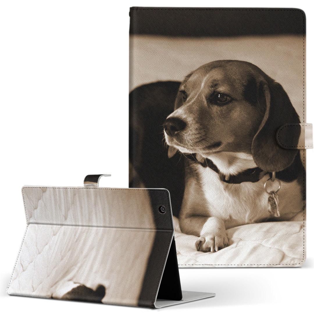 上質 iPad mini 4 手帳型ケース レザー かわいい ダイアリー 人気 タブレット ケース カバー Apple アニマル フリップ 写真 犬 ipadmini4 革 008194 Mサイズ 手帳型 往復送料無料 二つ折り セピア タブレットケース
