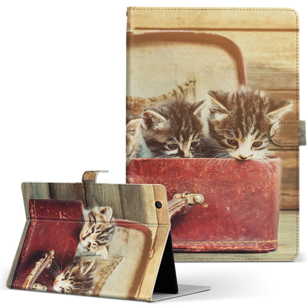 d-01J 手帳型ケース レザー かわいい ダイアリー 人気 タブレット 新着 ケース カバー Huawei dtab Compact ディータブコンパクト 驚きの値段で d01jdtabct ネコ フリップ 手帳型 二つ折り 008717 タブレットケース 革 猫 鞄 写真 アニマル Mサイズ カバン