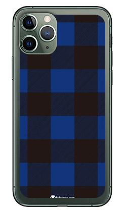 【送料無料】 Buffalo check ブルー (ソフトTPUクリア) design by Moisture / for iPhone 11 Pro/Apple 【SECOND SKIN】【ソフトケース】アップル iphone11 pro iphone11 pro ケース iphone11 pro カバー アイフォーン11プロ ケース アイフォーン11プロ カバー