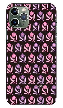 【送料無料】 デイジー柄ブラック×ピンク系 design by ARTWORK / for iPhone 11 Pro/Apple 【Coverfull】【スマホケース】【ハードケース】アップル iphone11 pro iphone11 pro ケース iphone11 pro カバー アイフォーン11プロ ケース アイフォーン11プロ カバー