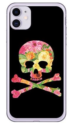 【送料無料】 Flower skull ブラック (ソフトTPUクリア) design by ROTM / for iPhone 11/Apple 【SECOND SKIN】【受注生産】【スマホケース】【ソフトケース】アップル iphone11 iphone11 ケース iphone11 カバー アイフォーン11 ケース アイフォーン11 カバー