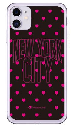 【送料無料】 NYC ピンクハートドット (ソフトTPUクリア) design by Moisture / for iPhone 11/Apple 【SECOND SKIN】【受注生産】【スマホケース】【ソフトケース】アップル iphone11 iphone11 ケース iphone11 カバー アイフォーン11 ケース アイフォーン11 カバー