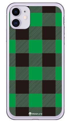 【送料無料】 Buffalo check グリーン (ソフトTPUクリア) design by Moisture / for iPhone 11/Apple 【SECOND SKIN】【受注生産】【スマホケース】【ソフトケース】アップル iphone11 iphone11 ケース iphone11 カバー アイフォーン11 ケース アイフォーン11 カバー